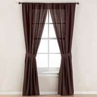 Smoothweave™ 84-Inch Tailored Rod Pocket Window Curtain Panel with Tie Back in Chocolate