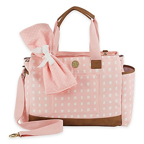 Mud Pie Bigger Bundle Rosebud Diaper Bag In Pink Buybuy Baby