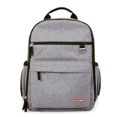 SKIP*HOP® DUO Diaper Backpack in Heather Grey