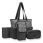 carter's® 5-Piece Tote Diaper Bag Set in Shadow Circle