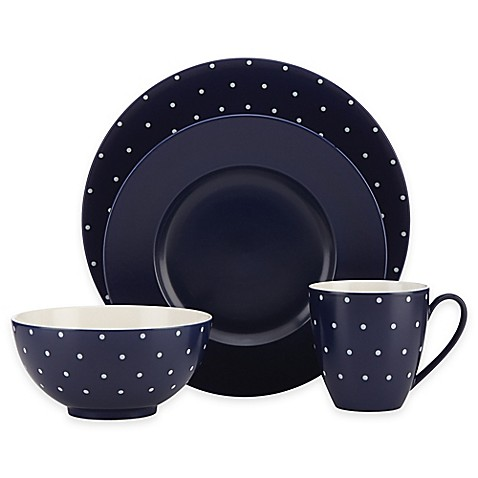 Kate Spade New York Larabee Dot Navy Dinnerware Collection