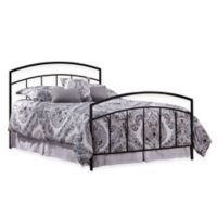 Hillsdale Julien Queen Bed with Rails in Black Metal