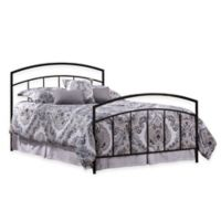 Hillsdale Julien Bed with Rails in Black Metal