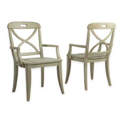 panama jack millbrook xback dining arm chairs in buttermilk set of 2