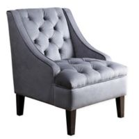 Abbyson Living® Amelia Tufted Armchair in Blue