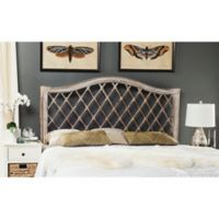 Safavieh Gabrielle Wicker Full Headboard in Antique Grey