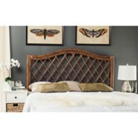 Safavieh Gabrielle Wicker Full Headboard in Brown/Multi