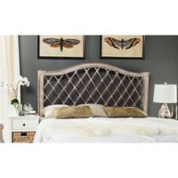 Safavieh Gabrielle Wicker Queen Headboard in Antique Grey