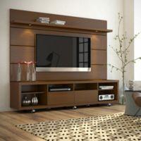 Manhattan Comfort Cabrini TV Stand 2.2 in Nut Brown