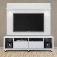 Manhattan Comfort Cabrini 1.8 TV Stand and Panel in White Gloss