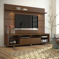 Manhattan Comfort Cabrini TV Stand and Panel 2.2 in Nut Brown