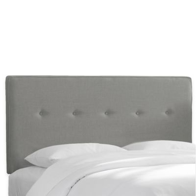 Skyline Furniture Ashland Queen Headboard In Linen Grey