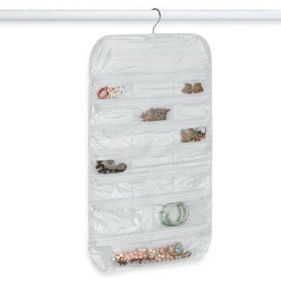 Crystal Clear Vinyl 37Pocket Hanging Jewelry Organizer Bed Bath