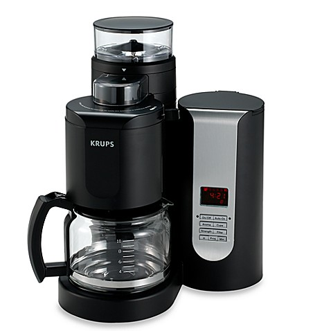 krups duo filter 10 cup pro grinder brewer coffee maker bed bath beyond. Black Bedroom Furniture Sets. Home Design Ideas