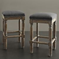 Madison Park Cirque Stools in Grey (Set of 2)