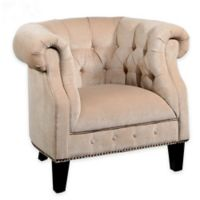 Abbyson Living® Bellagio Tufted Armchair in Cream