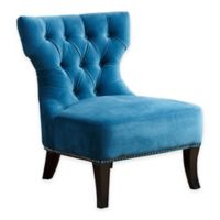 Abbyson Living® Cole Microsuede Chair in Petrol Blue