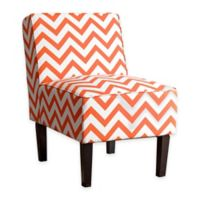 Abbyson Living® Fiona Chevron Slipper Chair in Orange/White
