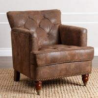 Abbyson Living® Garrison Club Chair in Antique Brown
