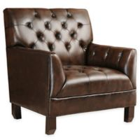 Abbyson Living® Revello Arm Chair in Brown Leather