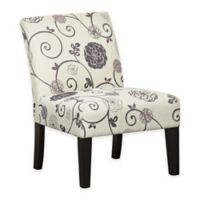 Pulaski Swirl Floral Dining Chair in Lavender/Cream