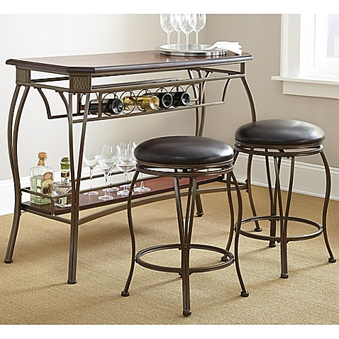Steve Silver Co Greensboro 3 Piece Counter Height Bar Set In Oak Bed Bath Beyond