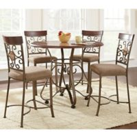 Steve Silver Co. Thompson 5-Piece Counter Height Dining Set in Cherry