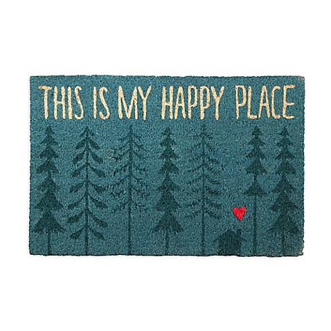 Quot This Is My Happy Place Quot 18 Inch X 30 Inch Coir Door Mat