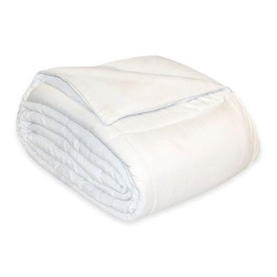Reversible Cotton Twill Full/Queen Down Alternative Comforter in White