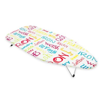 Bonita Mini Tabletop Ironing Board In Bright Text
