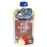Happy Baby™ Clearly Crafted Stage 2 Organic 4 oz. Apples, Blueberries, and Oats