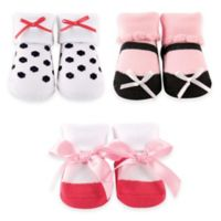 BabyVision® Luvable Friends® Size 0-6M 3-Pack Sock Gift Set in Pink/White/Black