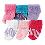 BabyVision® Luvable Friends® Size 0-3M 6-Pack Newborn Socks in Purple