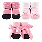 BabyVision® Luvable Friends® Size 0-6M 3-Pack Ballerina Decorated Socks Gift Set