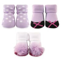 BabyVision® Luvable Friends® Size 0-6M 3-Pack Sock Gift Set in Lilac
