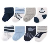 BabyVision® Luvable Friends® Size 0-6M Newborn Socks in Navy
