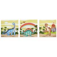 Teamson Fantasy Fields Dinosaur Kingdom Canvas Wall Art (Set of 3)