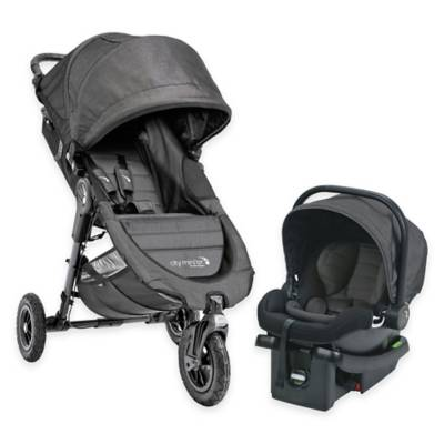 Baby Jogger 174 City Mini Gt Travel System In Charcoal Bed