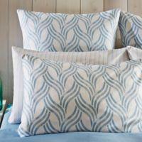 Frette At Home Levanto European Pillow Sham in Blue/Grey