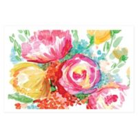Wonderful Watercolor Florals 48-Inch x 32-Inch Canvas Wall Art