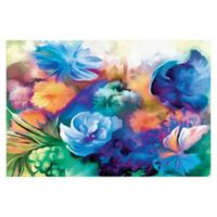 Blue Watercolor Bouquet 48-Inch x 32-Inch Canvas Wall Art
