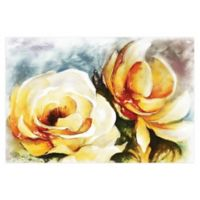 Pale Yellow Rose 48-Inch x 32-Inch Canvas Wall Art