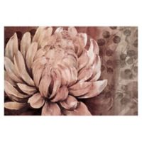 Parvez Taj White Dahlia 48-Inch x 32-Inch Canvas Wall Art