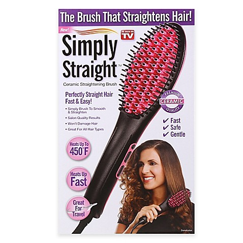 Simply Straight Ceramic Straightening Brush Bed Bath