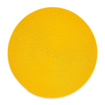 Round Placemat In Lemon Grass