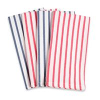 Striped Fete Buffet Napkins in White (Set of 4)