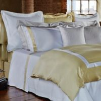 Frette At Home Arno Standard Pillow Sham in White/Butter