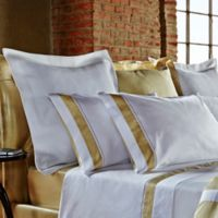 Frette At Home Arno Queen Sheet Set in White/Butter