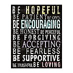 """Be Encouraging"" 8-Inch x 10-Inch Canvas Wall Art"