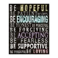"""Be Encouraging"" 16-Inch x 20-Inch Canvas Wall Art"